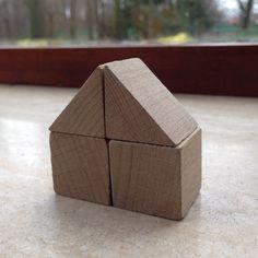 Bouwen met kubus en halve kubus. 1.