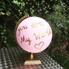 My painted globe X