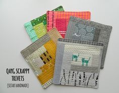 s.o.t.a.k handmade: qayg scrappy trivets {a tutorial}.  I simply can't get enough of her work!
