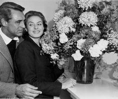 "missbergman: "" Meus lindinhos Cary Grant and Ingrid Bergman "" The best chemistry on screen"