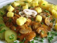 Tocanita de ciuperci Love Food, Vegan Recipes, Vegan Food, Potato Salad, Pork, Potatoes, Chicken, Meat, Ethnic Recipes