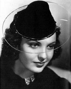 Perspex hat brim - what a fashionista as this was way ahead of its time?