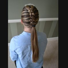 """Dutch braid into a ponytail! #hairoftheday #hotd #gorgeous #beautiful #loveit #braided #dutchbraid"