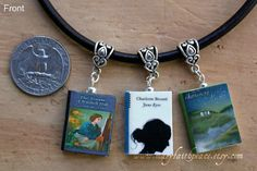 Jane Eyre Brontë Sisters NECKLACE Set with Wuthering Heights and The Tenant of Wildfell Hall