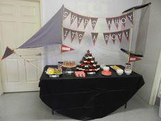 Domestic Bliss Diaries: A Pirate Themed Baby Shower - very cute, must check it all out @Randi-Lynn Avon