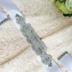 Diamond Belt Bridal Sash Pearl Sash Bridal Belt Accessory with Ribbon Tie Cheap Wedding Belt Bridal Sash Popular Bridal Accessory S21 Online with $29.31/Piece on Yupan's Store | DHgate.com