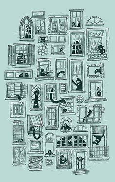 i've seen strange things in city windows by wanderingbert, via flickr