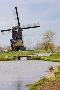 Windmill near Steefkerk, Netherlands