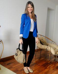 blazer azul - Buscar con Google