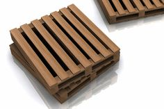Shutters made from pallets