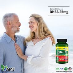 DHEA 25mg by AMS® provides all the age defying benefits of DHEA. Where production of male and female sex hormones decline with age, DHEA acts as a precursor to these hormones. Besides hormone regulation, DHEA supplementation helps increase bone mineral density, promote overall well-being and improve sexual health in men and women. Visit our website, www.americamedic.com, to discover the wide variety of our natural male & female fertility products