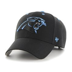 aec334c08 Carolina Panthers Audible MVP Black 47 Brand Adjustable Hat