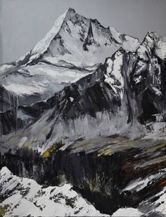 Original Landscape Painting by Vira Hrabar Top Paintings, Scenery Paintings, Mountain Paintings, Nature Paintings, Portrait Paintings, Indian Paintings, Oil Painting Abstract, Acrylic Painting Canvas, Abstract Art