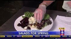 Mixing up the perfect spring salad
