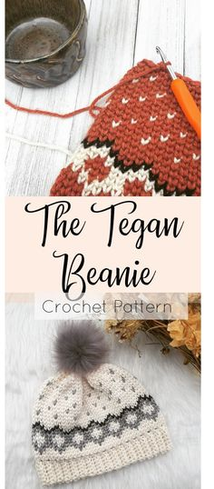 Crochet Patterns Beanie Tapestry Crochet Beanie Pattern with a Geometric Design and Hearts! This Pattern. Crochet Adult Hat, Crochet Beanie Hat, Diy Crochet, Crochet Crafts, Crochet Baby, Crochet Projects, Baby Hat Knitting Pattern, Knitting Patterns, Hat Patterns
