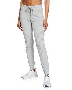 Alo Yoga Urban Moto Sweatpants In Dove Grey Heather Tea Gown, Moto Style, Yoga Fashion, Sweater And Shorts, Sleepwear Women, World Of Fashion, Pajama Set, Neiman Marcus, Lounge Wear