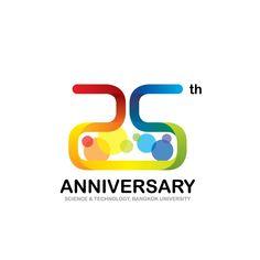 25th Anniversary School of Science & Technology, Bangkok University Logo