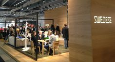 Swedeses booth at the Stockholm Furniture Fair.