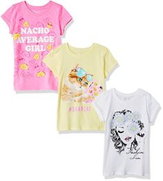 The Children's Place Big Girls' Graphic Tee (Pack of Multi Clr, XS They'll love this style - you'll love this place where fashion meets fun - The Children's Place Comfortable Snap Cat, Average Girl, Summer Colors, Children's Place, Graphic Tees, Summer Dresses, Big, Sleeve, Womens Fashion
