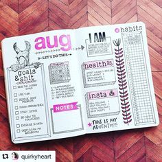 I'm crying :joy::joy::joy: #goalsandshit. Amazing. And that llama? Camel? Alpaca? So awesome. Nice work /quirkyheart/! #Repost /quirkyheart/ (via @repostapp) ・・・ I'm calling this my monthly dashboard. I track most things weekly in my planner so I just wan