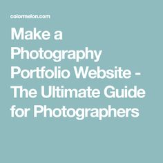 Considering making your first portfolio website? Or maybe you already have a portfolio but want it to look professional - either way, this guide is for you! Photography Portfolio Website, Adobe, Photographers, How To Make, Cob Loaf