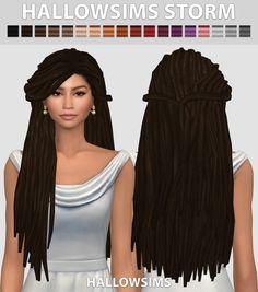 Storm hair conversion at Hallow Sims via Sims 4 Updates