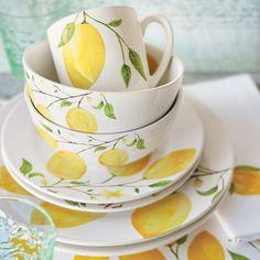 looks like summer to me! | Lemon 16-Piece Dinnerware Set | Sur La Table