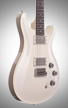 "PRS Paul Reed Smith DGT Electric Guitar with Grisson Fingerboard. PRS DGT David Grissom model. Note the natural ""binding"" (I assume it's binding and not a paint thing), the white pickup brackets, and the silver/black/clear knobs. Also half moon fret inlays. Super clean look"