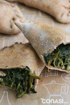 Deliciosas empanadas veganas rellenas de espinacas y verduritas. No contienen lactosa ni huevo. ¡Masa casera!