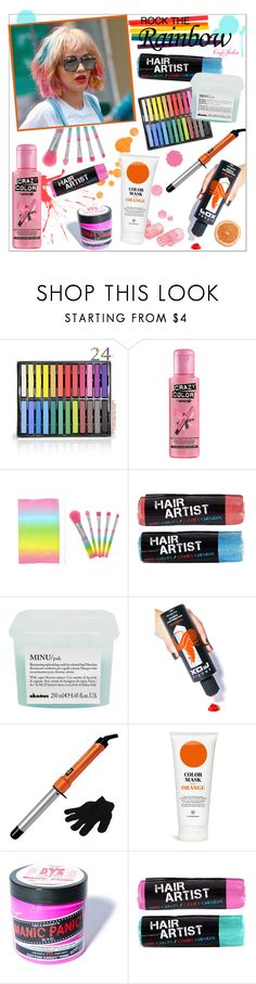 """Rainbow hair don't care"" by cafejulia ❤ liked on Polyvore featuring beauty, Capelli New York, Crazy Color, Davines, Arctic Fox, Bed Head by TIGI and Manic Panic NYC"