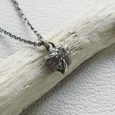 There's going to be a very lucky 18 year old soon!  Tri claw 2ct  rough diamond pendant in white gold and blackened Sterling silver travelling to the above... #tamaragomezjewellery #rawluxury #spiritinspired #rawbeauty #rawdiamonds #roughdiamonds  #craftanddesign #londondesign #roughluxe #boholuxe #artisanjewellery #artisanjewelry #girlboss #instastyle #goldsmith #cockpitarts #studiolife #diamondnecklace #finejewelry #contemporarydesign #craft #design