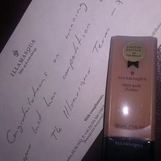 I won my Illamasqua Lust Have - Skin Base in Au! Click through to see more!