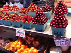 Granville Island Market; could the fruit possibly look more tempting?