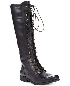 XOXO Bonnie Lace-Up Tall Boots - Lingerie - Women - Macy's