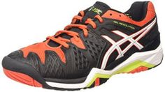 ASICS Gel-resolution 6, Chaussures de Tennis homme – Noir (black/white/orange 9001), 45 EU
