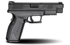 XD(M)® 4.5″ Full Size 9mm caliber #pistol in Black from Springfield Armory® #firearm #handgun