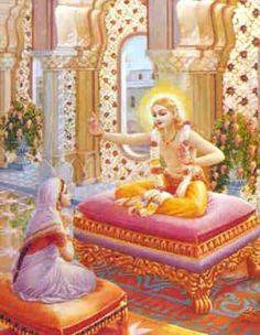 Sage KAPILA TEACHES DEVAHUTI Aathma Vidhyei (The Beginning of Saankhya yogam ) .