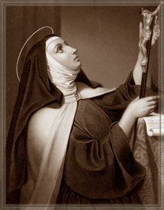 """""""When you have received Holy Communion, close your bodily eyes so that you may open the eyes of your soul. Then look upon Jesus in the center of your heart. Teresa of Ávila, Feast day October Religion Catolica, Catholic Religion, Catholic Saints, Roman Catholic, Sainte Therese, St Therese, St Theresa Of Avila, Contemplative Prayer, D Avila"""