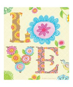Take a look at this 'Love' Print by Ellen Crimi-Trent on #zulily today!