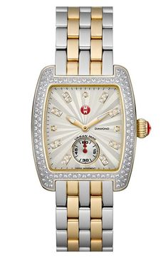 two-tone diamond watch