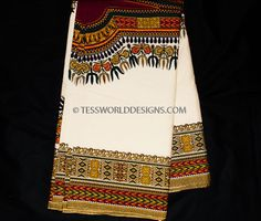 Soft Cream Dashiki fabric/ African dashiki/ Smooth Super quality Dashiki…