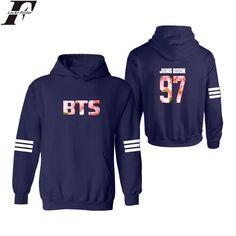 LUCKYFRIDAYF Navy Blue BTS Hooded mens hoodies and sweatshirts hip hop Hoody with Bangtan Boys Hoodies Men Brand xxs 4xl #Affiliate