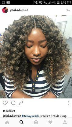 Freetress gogo curl Knotless crochet braids by @jalishadidthat on instagram simply flawless #memphishairstylist