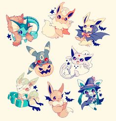 By far the best Pokemon from my childhood! Look they're in Halloween costumes!:)