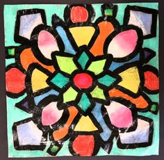 Let me start by saying... the technique I used, wet paper with chalk pastels was borrowed by a great art teacher Phyllis Levine Brown,...