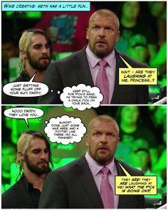 credit JenJ I know it's not Dean but it freaking hilarious Wrestling Memes, Watch Wrestling, Wwe Funny, Funny Jokes, Wwe Dean Ambrose, Wwe Pictures, Burn It Down, Wwe Tna, Freaking Hilarious