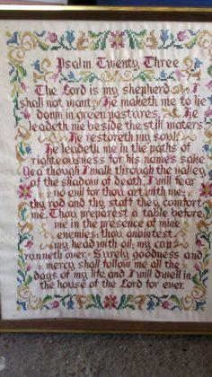 Needlepoint Psalm 23 framed in sudaskcrsu's Garage Sale Rockaway, NJ for $45.00