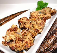 Cheese and Sausage Stuffed Mushrooms