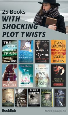 25 Books with Plot Twists You Won't See Coming Looking for a book that will make your jaw drop? This collection of mysteries, thrillers, and more, are guaranteed to shock you — and keep you turning the pages! Best Books To Read, I Love Books, My Books, Reading Books, 100 Best Books, Best Fiction Books, Books To Read For Women, Best Selling Books, Great Books