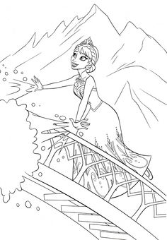 Frozen Coloring pages for kids. Printable. Online Coloring. 67